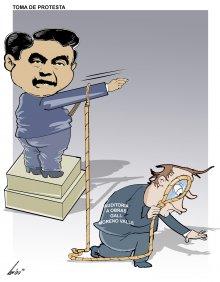 Toma de protesta de Barbosa